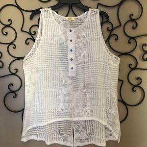 Kori Sheer Off White Shirt